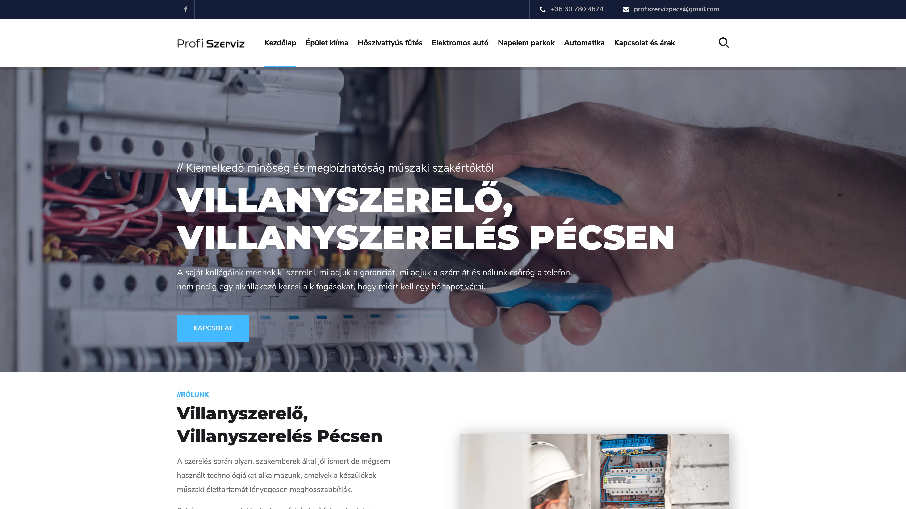Profi Szerviz weboldal